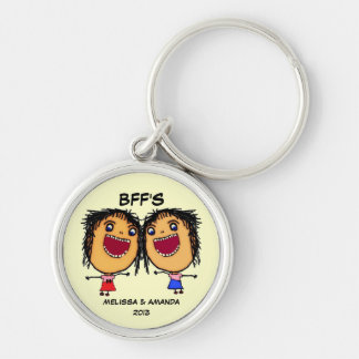 Best Friends Forever Funny Cartoon Keychain