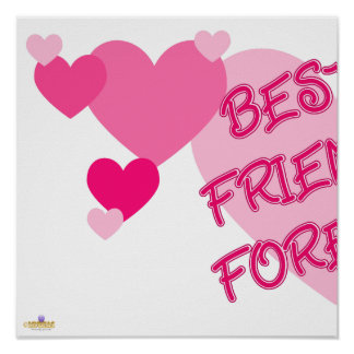 Best Friends Forever Pink Hearts Part 1 Posters