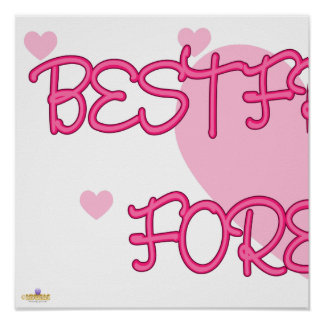 Best Friends Forever Pink Lt Hearts Part 1 Print