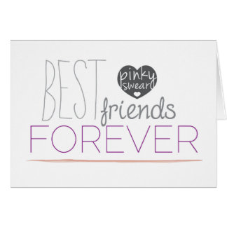 Best Friends Forever Pinky Promise Greeting Card