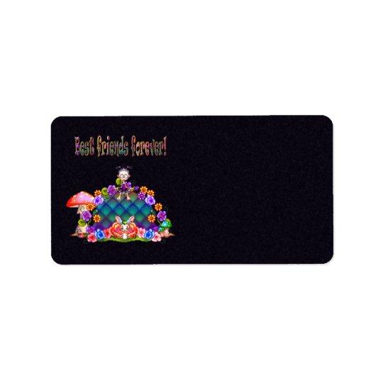 Best Friends Forever Pixel Art Label