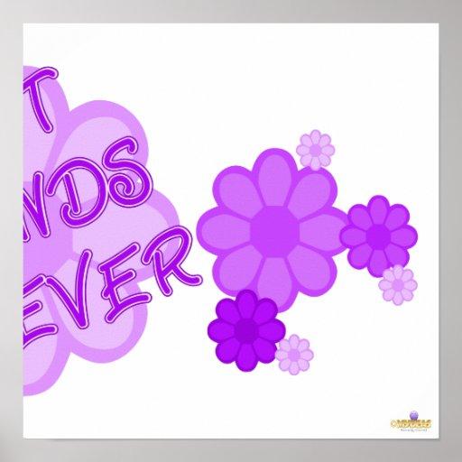 Best Friends Forever Purple Flowers Part 2 Poster