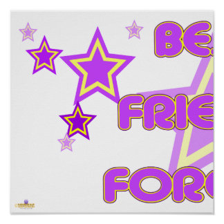 Best Friends Forever Purple Yellow Stars Part 1 Poster