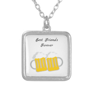 Best Friends Forever Silver Plated Necklace