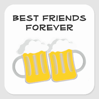 Best Friends Forever Square Sticker