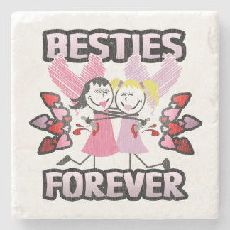 Best Friends Forever! Stone Coaster