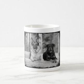 Best Friends German Shepherd & Rottweiler Dogs Mug