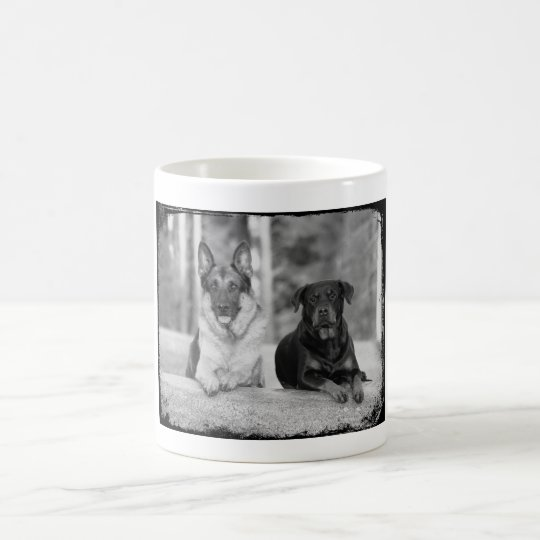 Best Friends German Shepherd & Rottweiler Dogs Mug