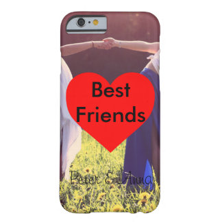 Best Friends heart background Barely There iPhone 6 Case