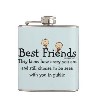 Best Friends Hip Flask
