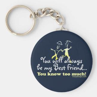 Best Friends Knows Humor Keychain