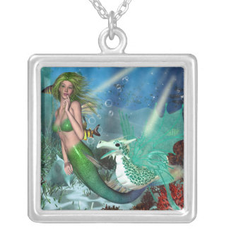 Best Friends Mermaid Fantasy Silver Plated Necklace