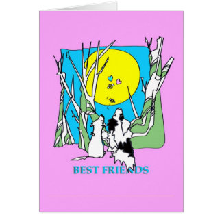 Best Friends-On Pink Card