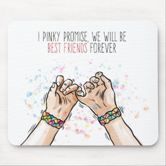 Best Friends Pinky Promise | Mousepad