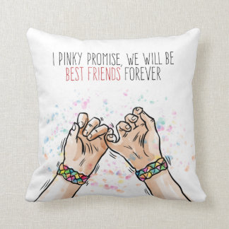 Best Friends Pinky Promise | Throw Pillow