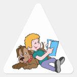 Best Friends Reading Triangle Sticker