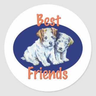 Best Friends Round Sticker