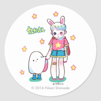Best Friends Round Sticker, Glossy Classic Round Sticker