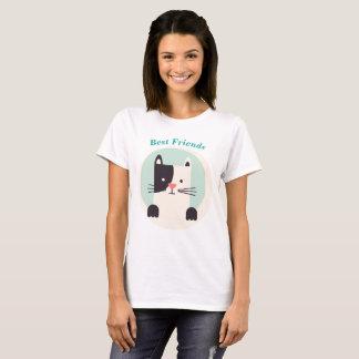 Best Friends Shirt kitty kitten White black Cat