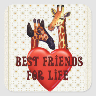 Best Friends Square Sticker
