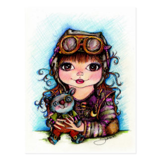 Best Friends...Steampunk Fun Postcard