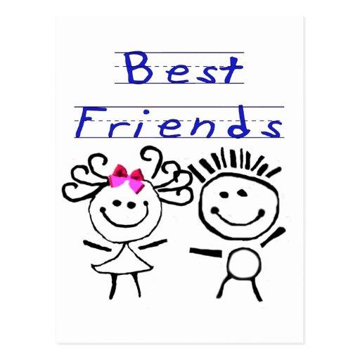 Best friends stick figure | Zazzle