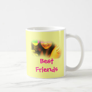 Best Friends Yellow and Pink Mug