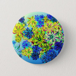 Best gift blue abstract art for mother's day 2 inch round button