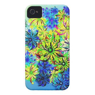 Best gift blue abstract art for mother's day Case-Mate iPhone 4 cases