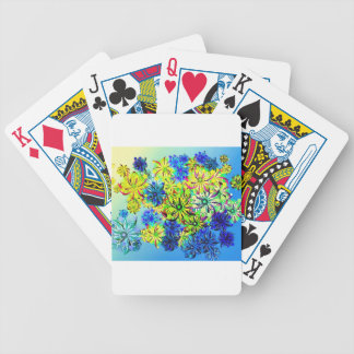 Best gift blue abstract art for mother's day poker deck