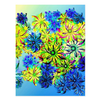 Best gift blue abstract art for mother's day postcard