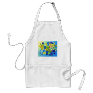 Best gift blue abstract art for mother's day standard apron