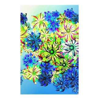 Best gift blue abstract art for mother's day stationery