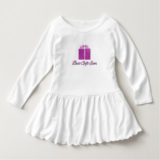 Best Gift Ever Glitter Toddler Ruffle Dress