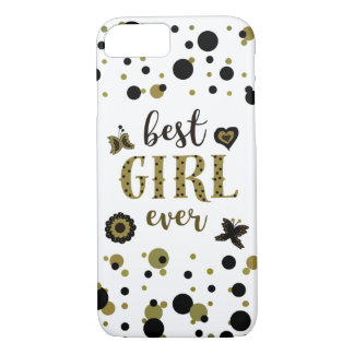 Best Girl Ever Dots Golden Black Spring Boho Chic iPhone 8/7 Case