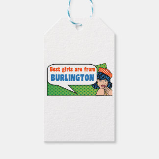 Best girls are from Burlington Pack Of Gift Tags