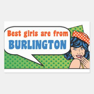 Best girls are from Burlington Sticker