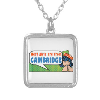 Best girls are from Cambridge Silver Plated Necklace
