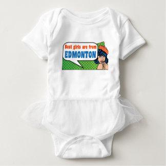 Best girls are from Edmonton Baby Bodysuit