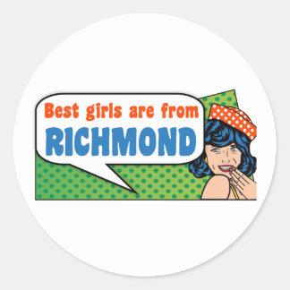 Best girls are from Richmond Classic Round Sticker