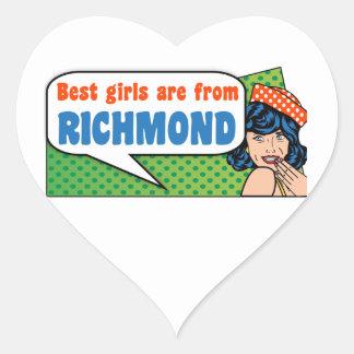 Best girls are from Richmond Heart Sticker