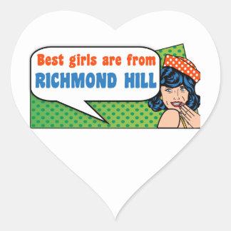 Best girls are from Richmond Hill Heart Sticker