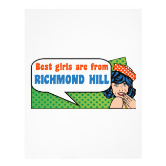 Best girls are from Richmond Hill Letterhead