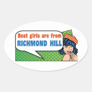 Best girls are from Richmond Hill Oval Sticker