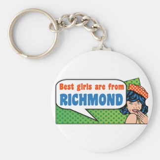 Best girls are from Richmond Keychain