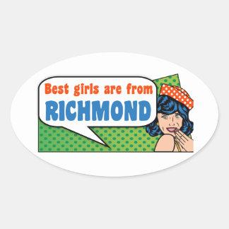Best girls are from Richmond Oval Sticker