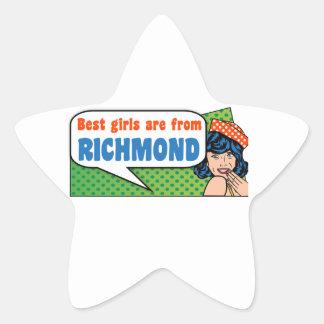 Best girls are from Richmond Star Sticker