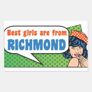 Best girls are from Richmond Sticker