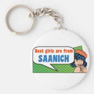Best girls are from Saanich Keychain