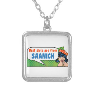 Best girls are from Saanich Silver Plated Necklace